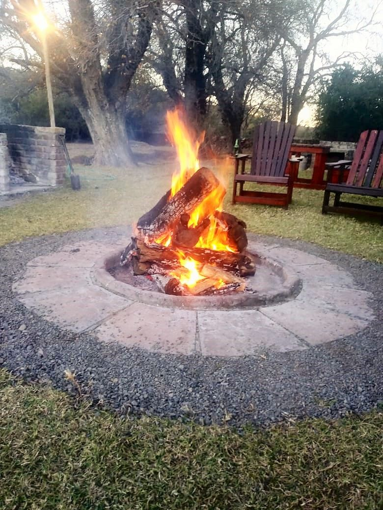 Bonfire at our Lodge